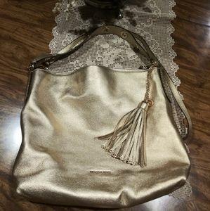 Michael Kors gold metallic handbag